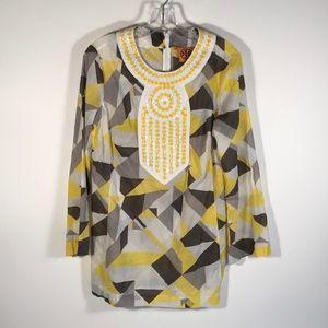 Tory Burch Geometric Print Tunic Top, Women 10